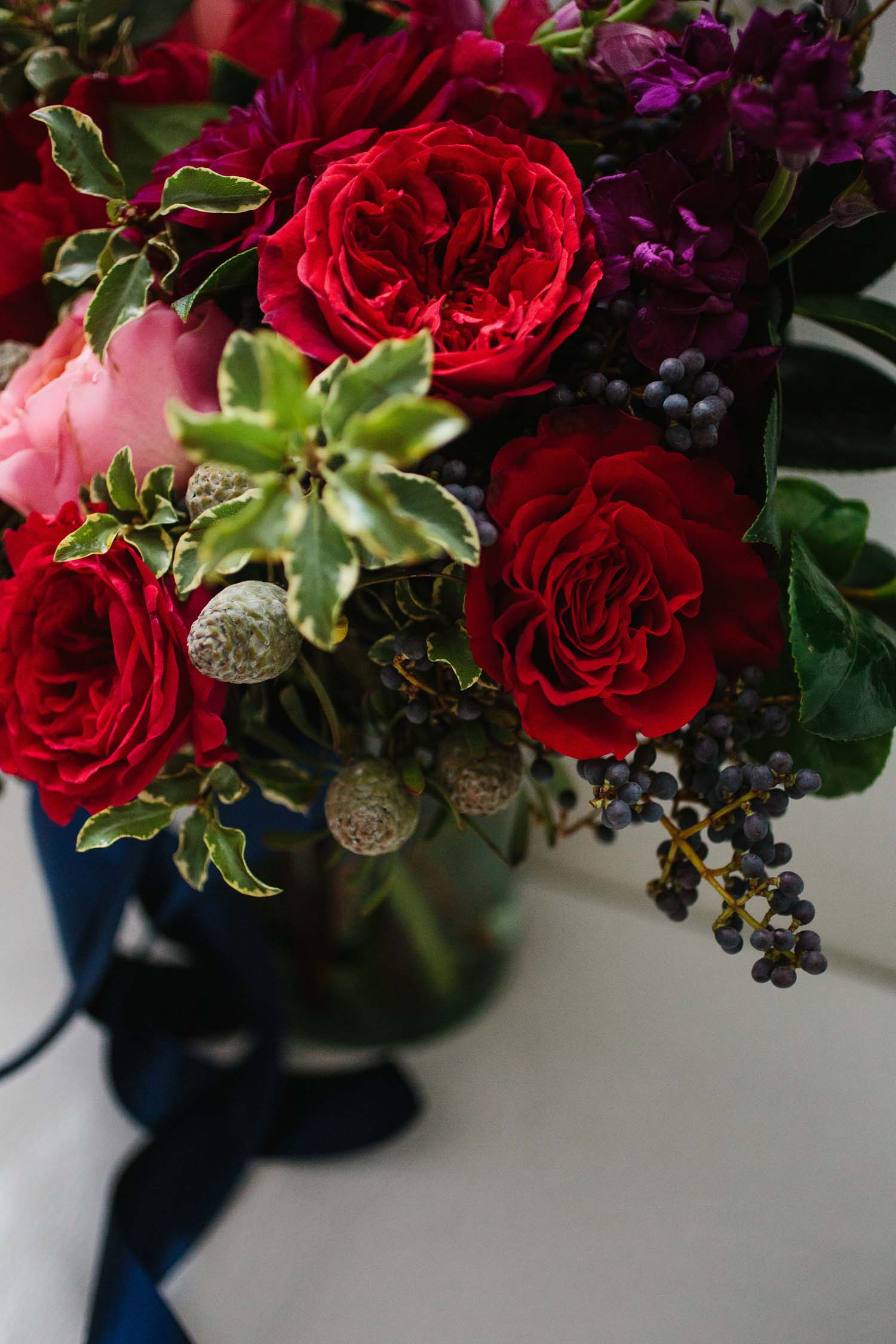 ann arbor winter wedding flowers