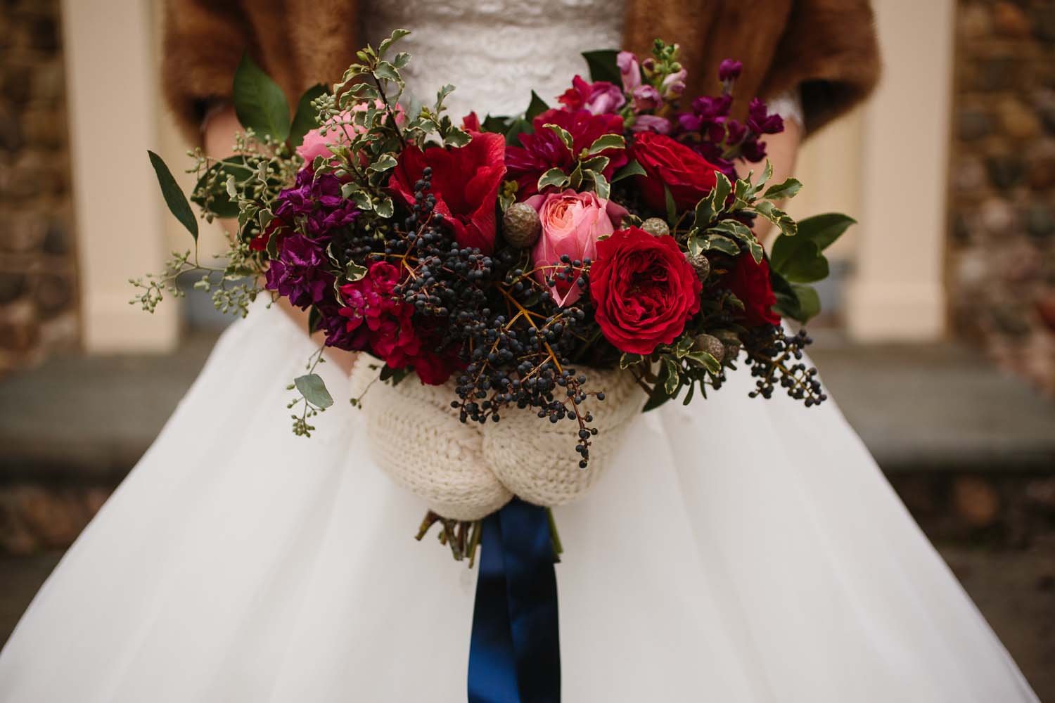 Jewel Toned Wedding Flowers Red Poppy Floral Design Blog