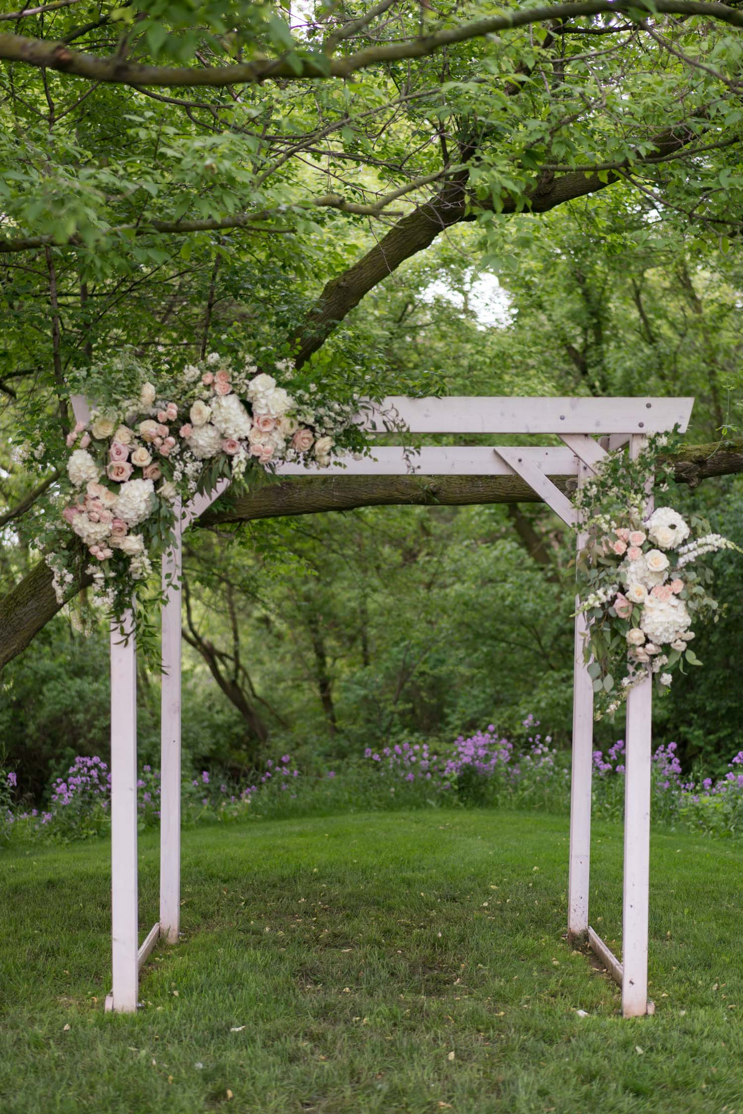 wedding ceremony arch by red poppy ann arbor
