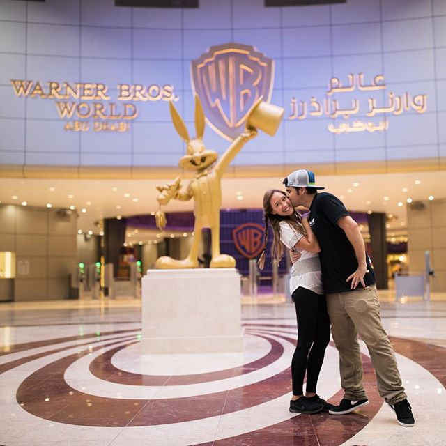Warner Bros. World in Abu Dhabi! This place was a dream come true!! Who's your favorite Warner Bros. Character?? Video link in bio ✨ @wbworldad