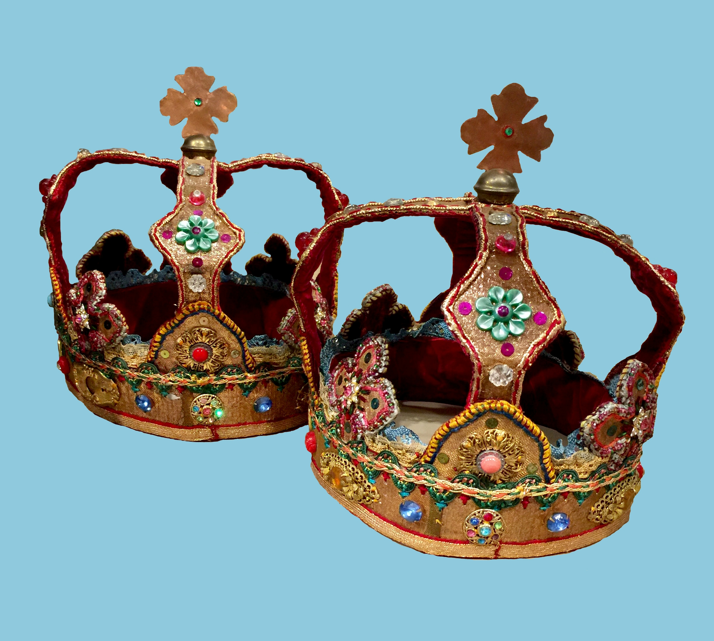 Wedding Crowns Вінчальні Корони - Crowns are used in the Orthodox wedding service to symbolize the couple's relationship to one another as King and Queen of their kingdom: their home.