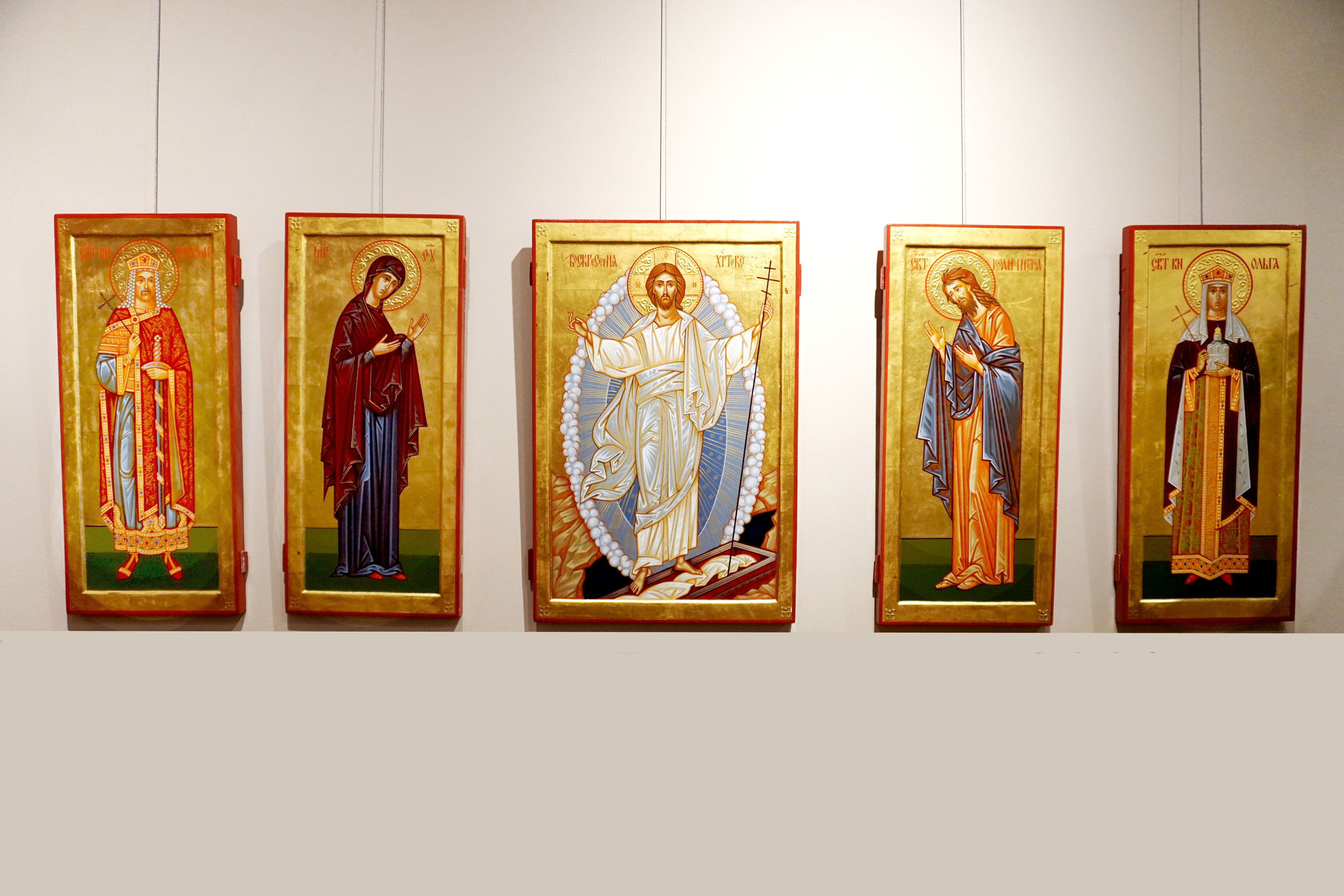 IconsІкони - Icons are two-dimensional, religious works of art. In the Orthodox Church, icons bear witness to the reality of God's presence.