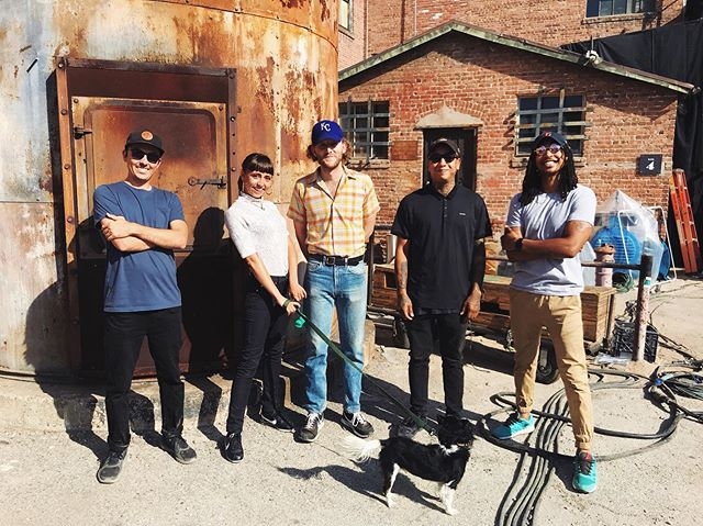 Meet the team! Site reps Cory, Tucker, Edward and Justin, Vibe Manager Noodles and Studio Manager Nele. Rain or heatwaves, weekends or weekdays, early morning calls or late night shifts, we hold it down together and make it all happen for our clients. ✨ . . . #lacystreetproductioncenter #siterep #vibemanager #studiomanager #team #moviestudio #stage #LocationScout #LocationManager #LosAngeles #California #ItsEasyBeingCheesy