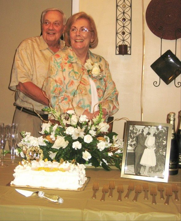 My grandparents on my dad's side celebrating their 50th anniversary in 2011