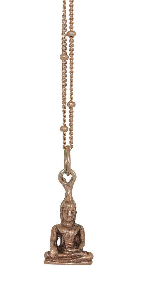 Copy of Buddha Charm Necklace, Rose Gold
