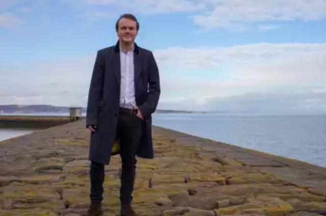 Inventor James Longcroft on Granton Harbour Wall