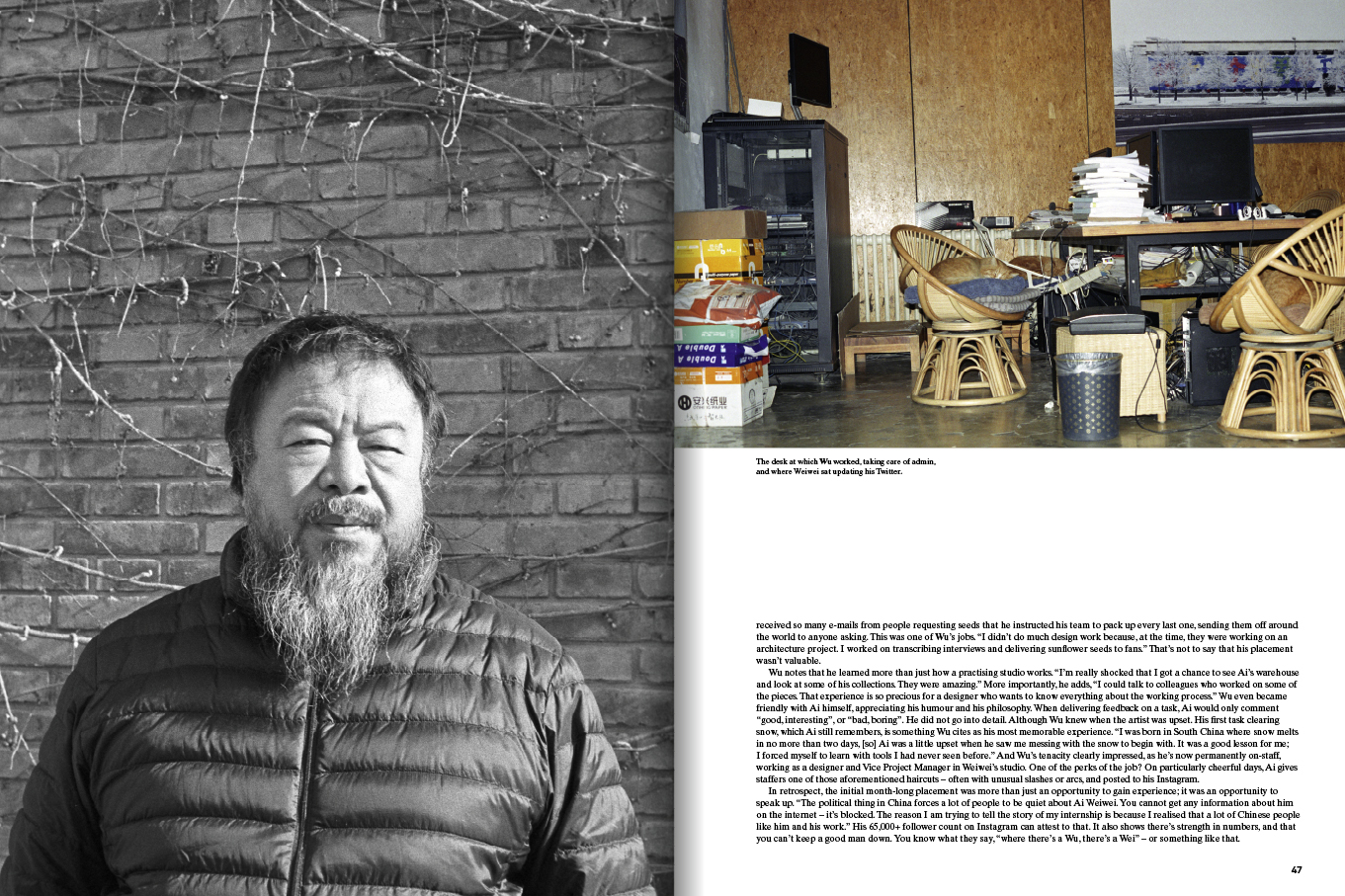 1 Granary: page spread on Ai Wei Wei