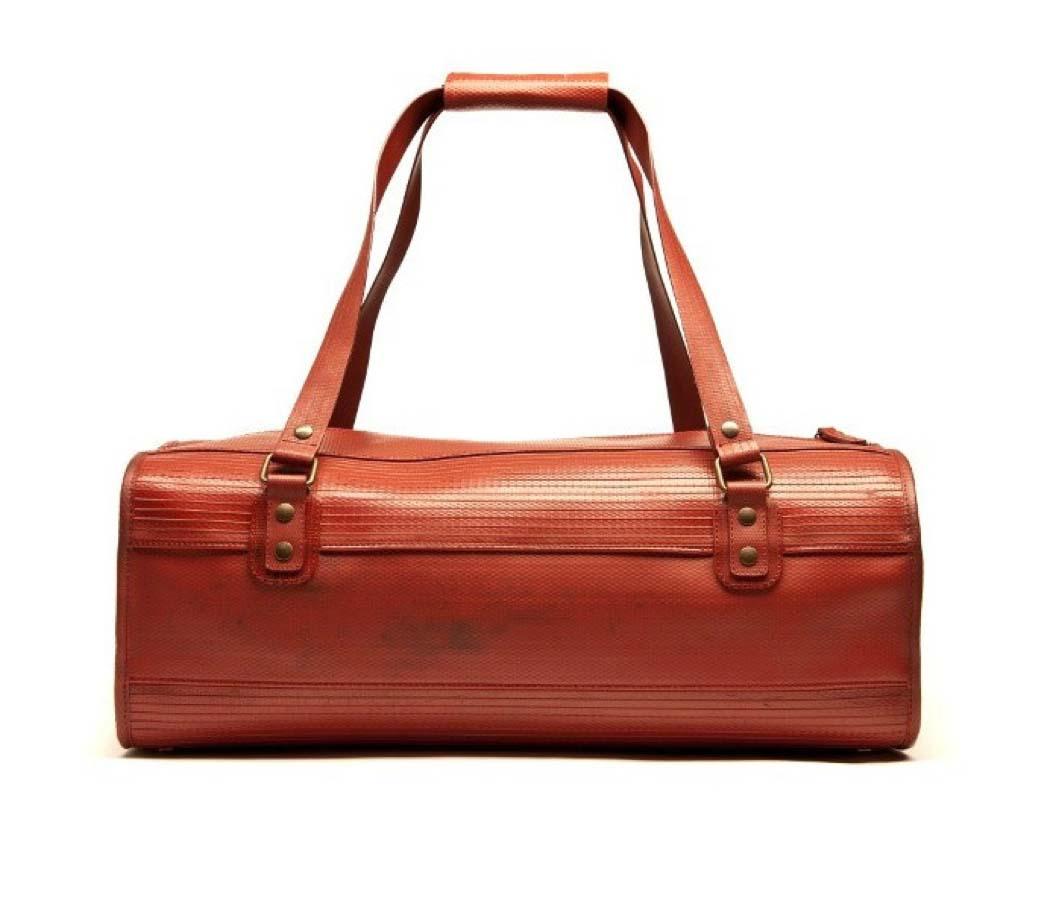 Fire Hose Overnight Bag, £215, Elvis and Kresse.