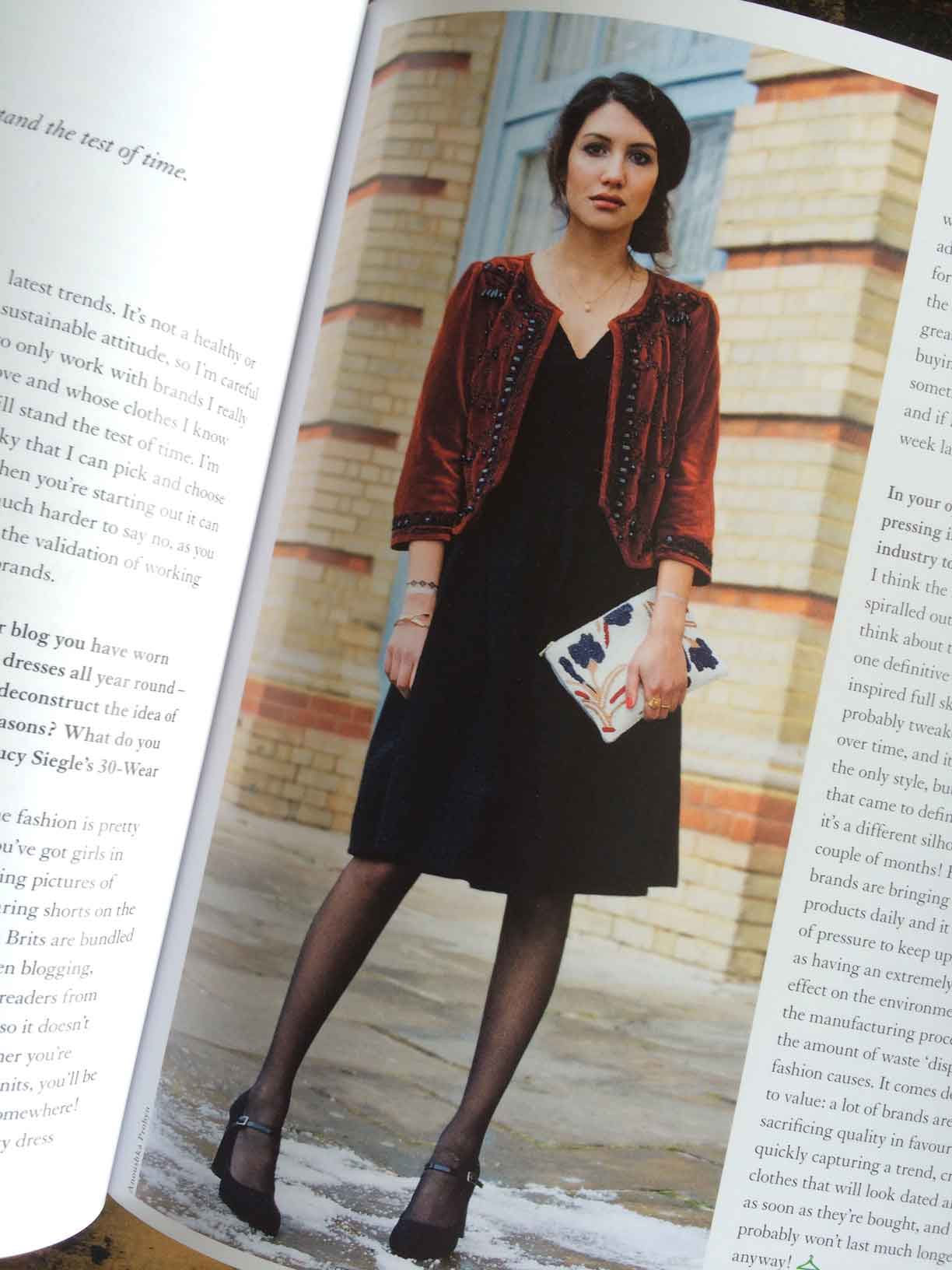 """Anoushka Probyn: """"I'm careful to only work with brands I love and whose clothes I know will stand the test of time."""""""