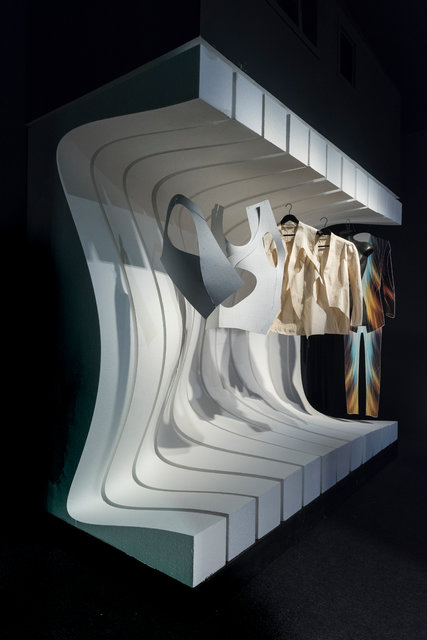 Pieces designed by Patrik Schumacher for an exhibition inspired by the work of the architect Zaha Hadid, who died in March. Credit Damian Griffiths/Courtesy of Maison Maison Non