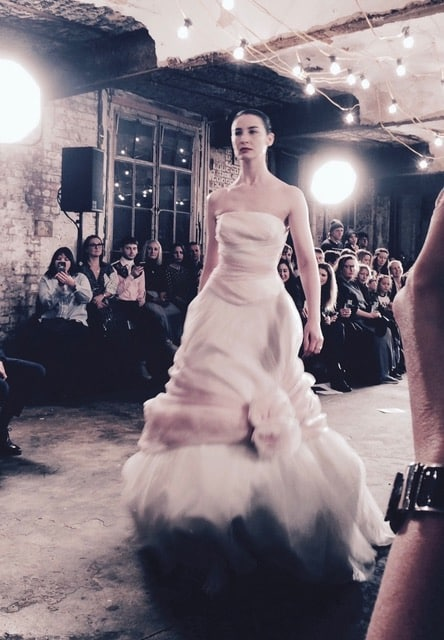O'Connor closes the show in a wedding gown. Picture: Bel Jacobs.