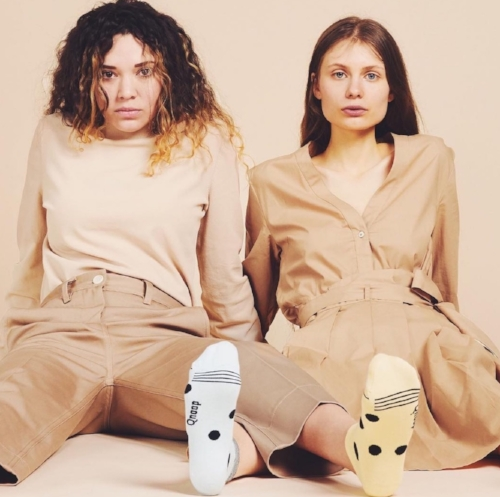 Amsterdam-based sock brand Qnoop uses organic natural fibres, biodegradable buttons, and recycled labels and packaging.
