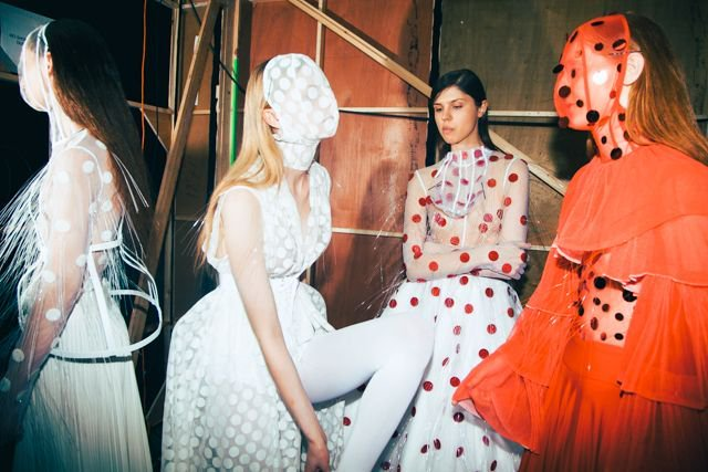 Behind the scenes: Graduate Fashion Week 2018. Picture: Rory James.