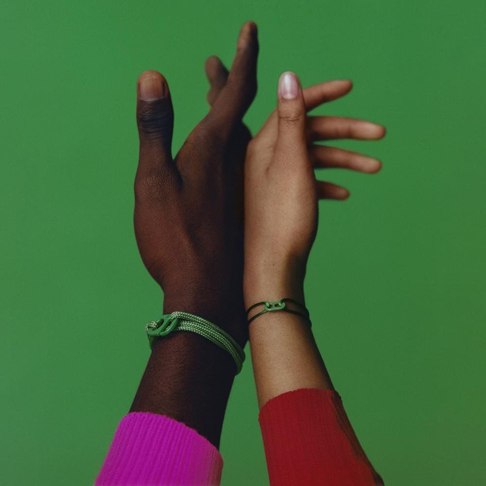 At the heart of #TOGETHERBAND are 17 sustainably produced friendship bracelets,