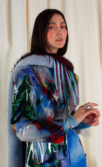 Rose Danford Phillips is another young designer working imaginatively with faux fur. Picture: Rose Danford Phillips.