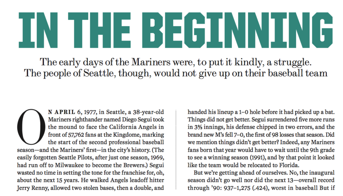 Seattle Mariners — Time