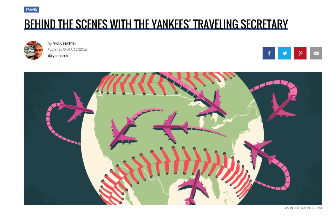Yankees' Traveling Secretary — Thrillist