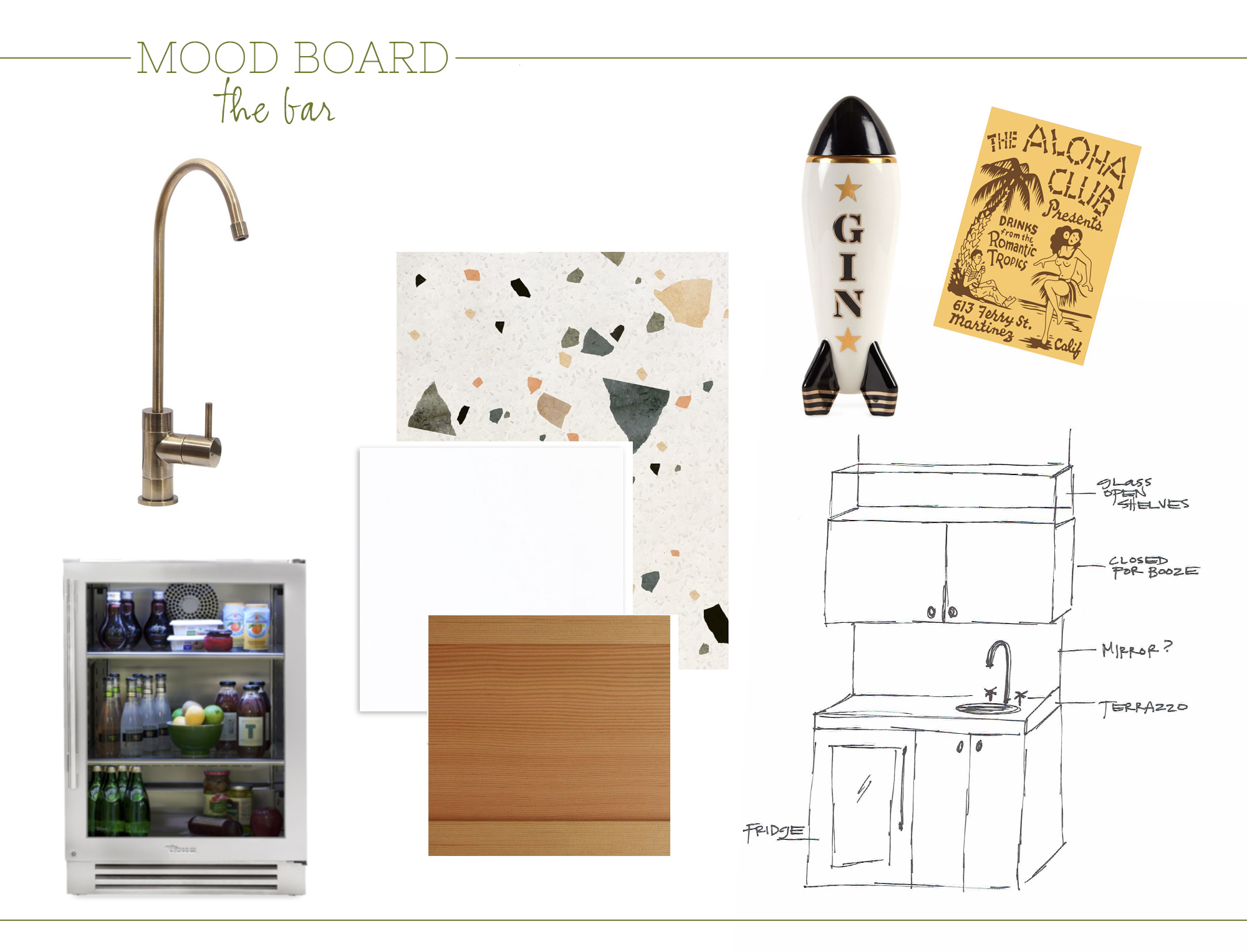ALI HEDIN MOOD BOARD | WEEKNIGHT PARTY HOUSE BAR