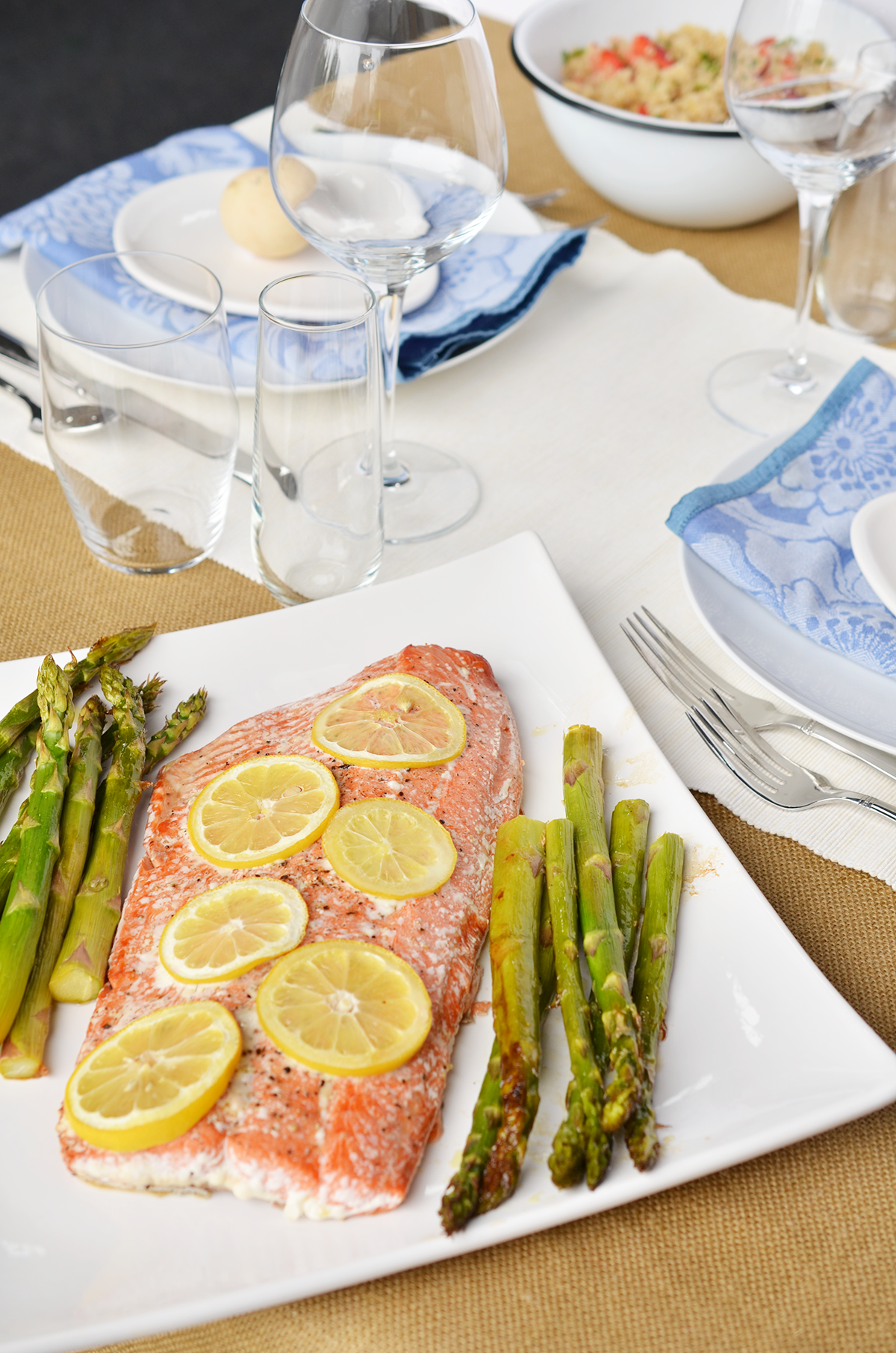Ali Hedin | Clean Eating Lemon Pepper Salmon