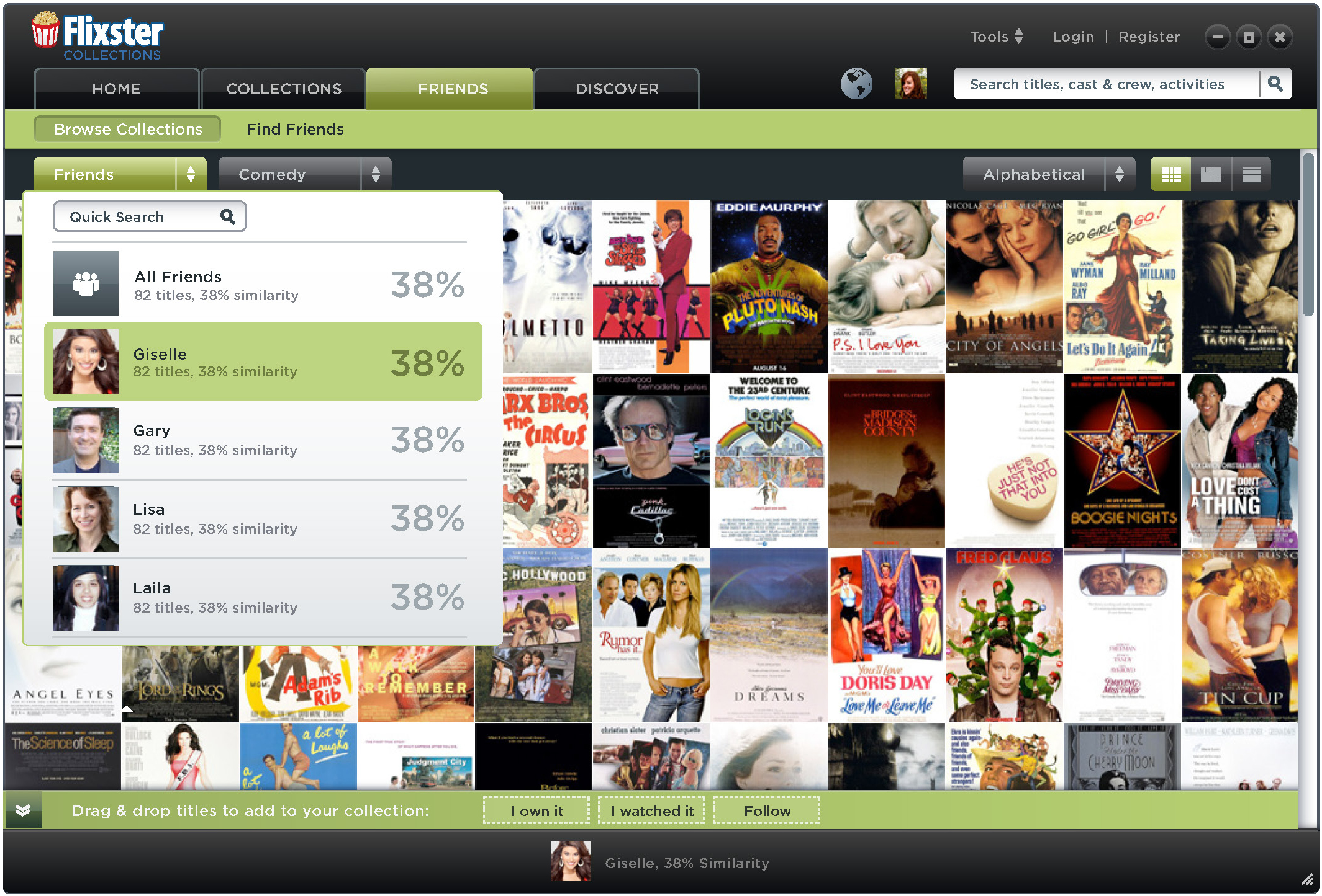 See your movie compatibility with friends