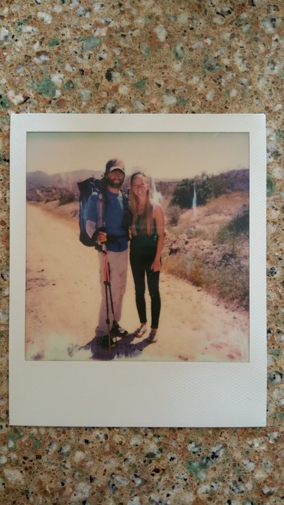Taylor had the OG Polaroid camera out at Julian. Mel and I right off the trail.
