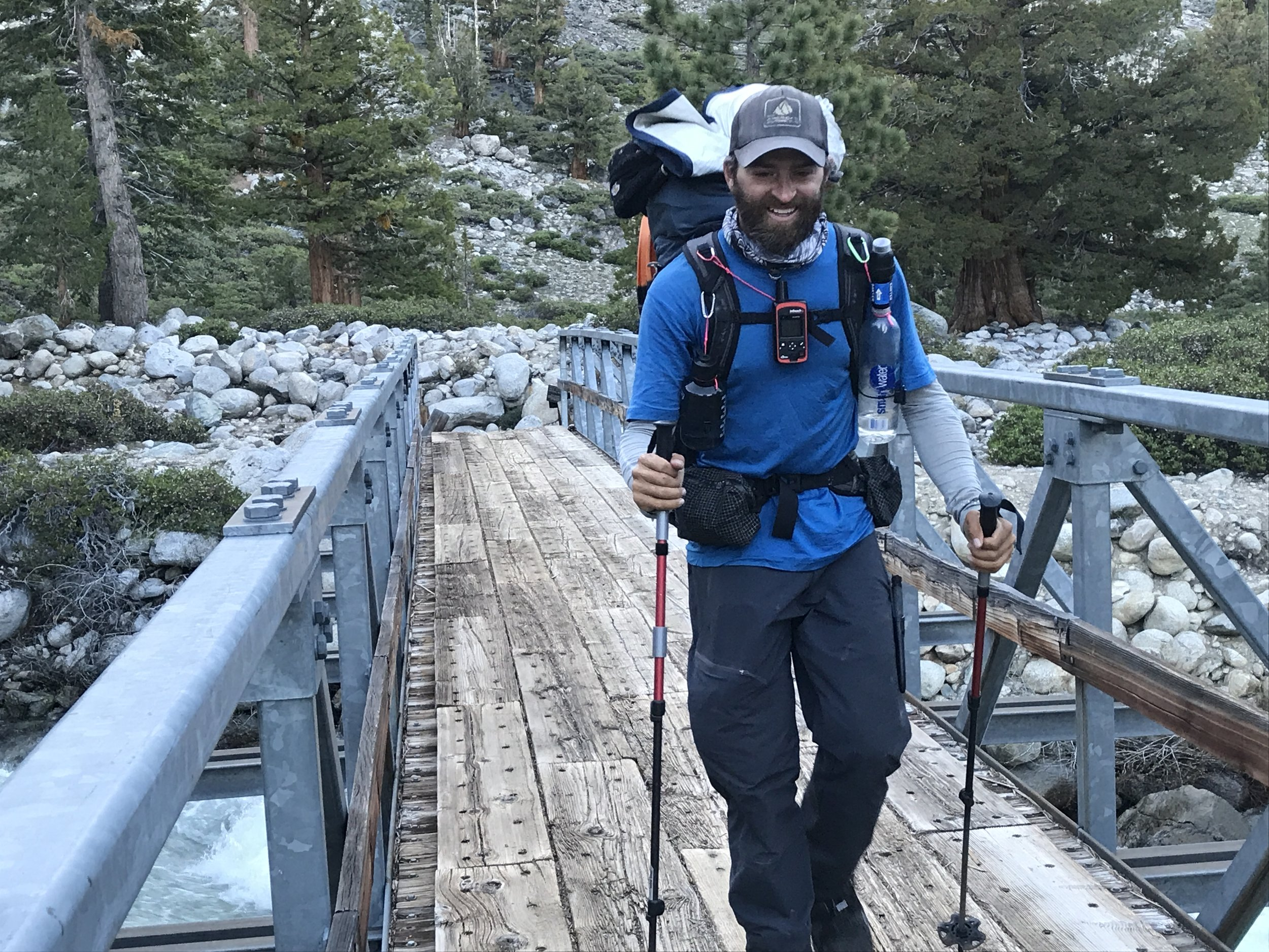 The author cruising through the solitary glory of the JMT in May.