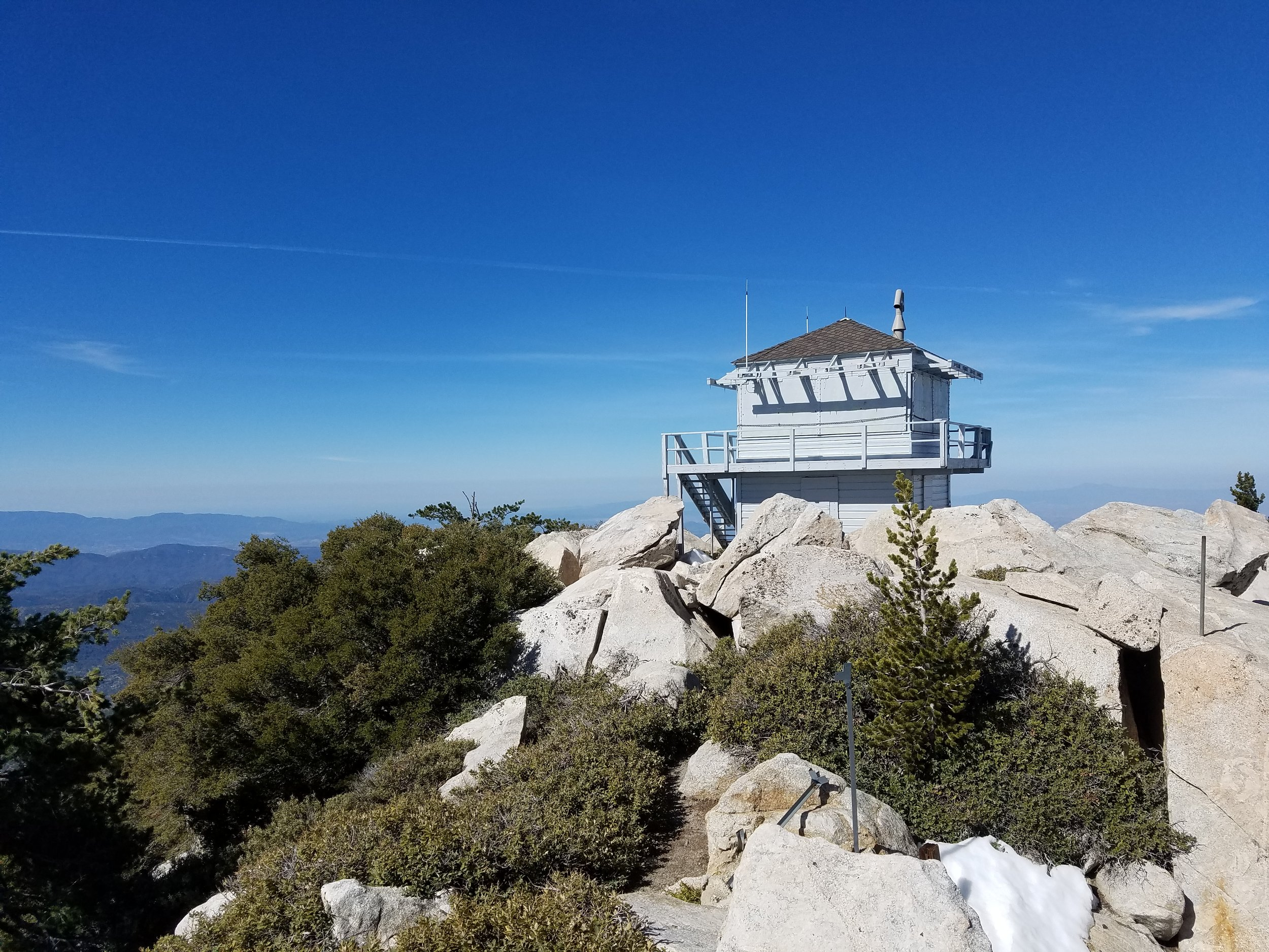 Taquitz Peak fire lookout tower.