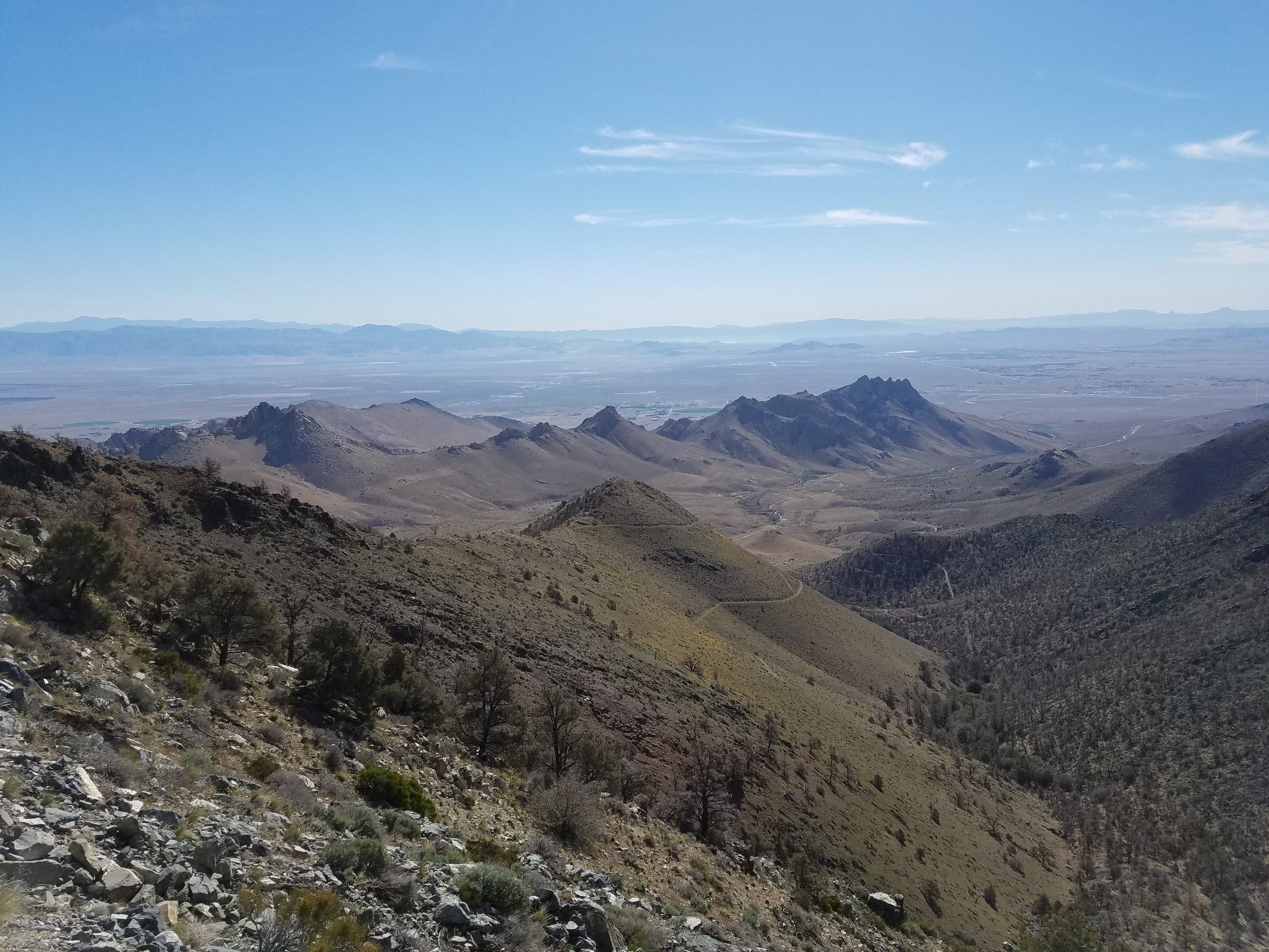 Overlooking the Owens Valley and Ridgecrest