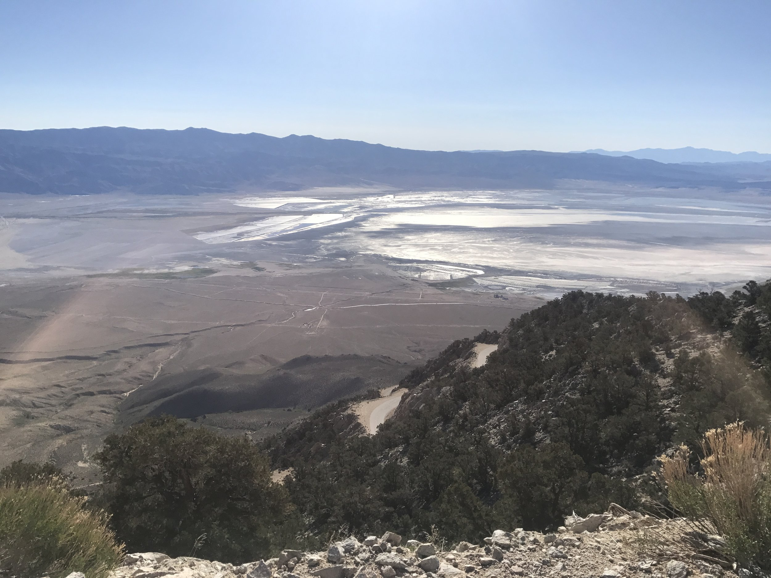 Views down into the Owens Valley as we gained our elevation back.
