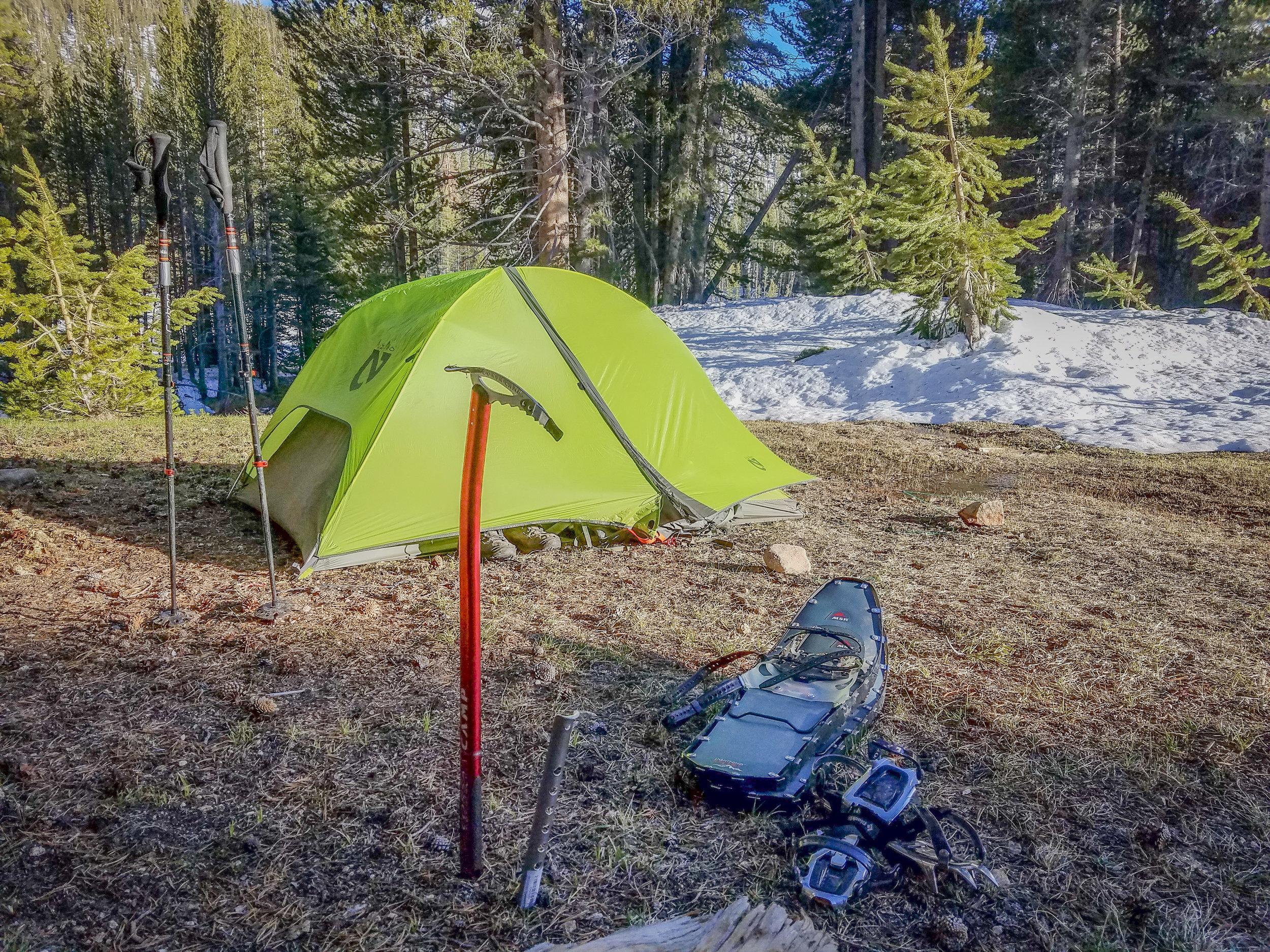 Camp just above Rock Creek