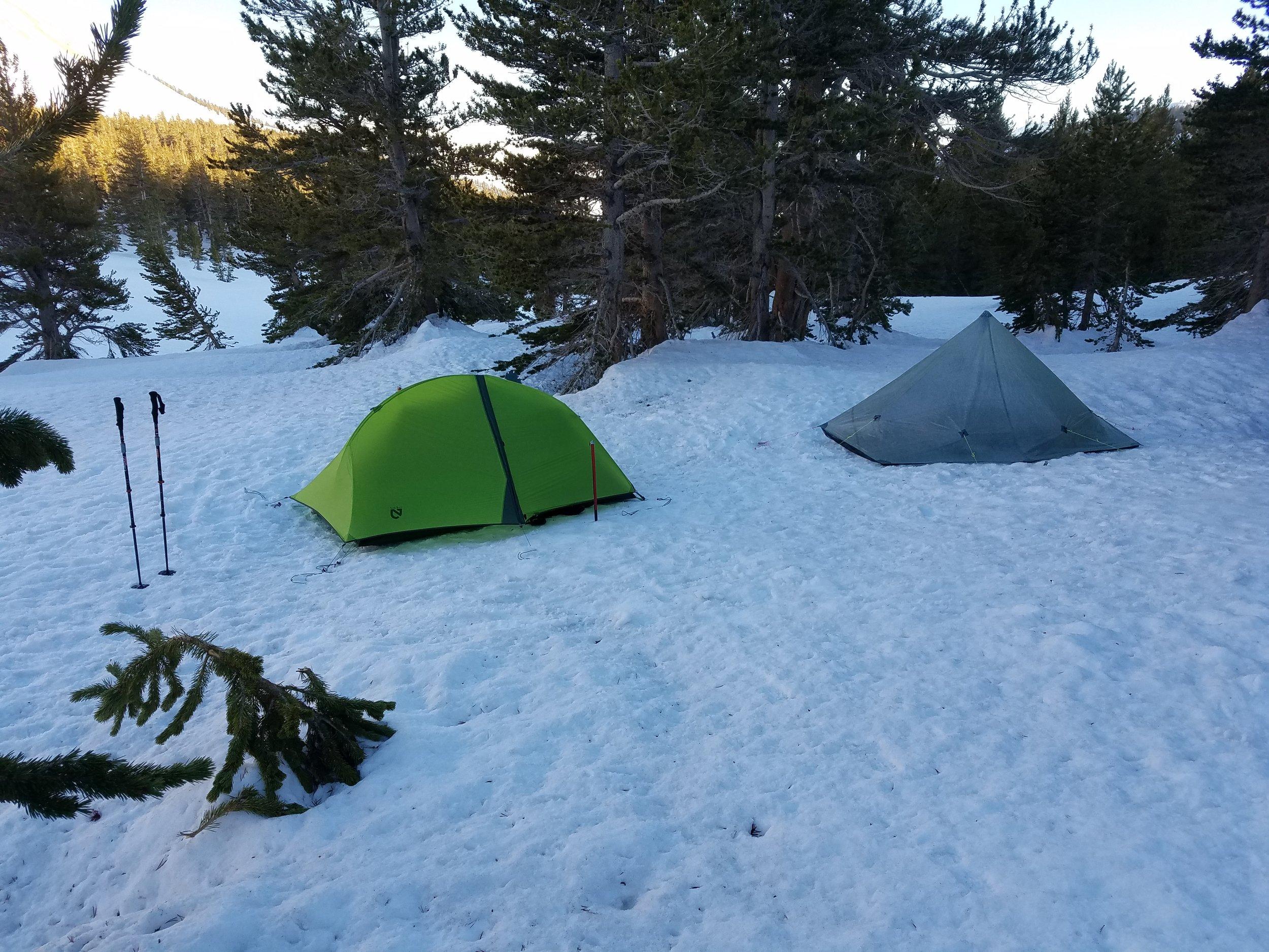 Camping cold at Tyndall Creek