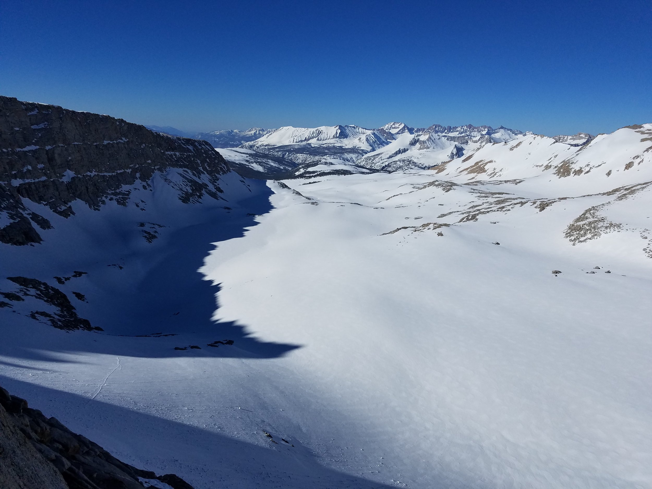 The view from high on Forester Pass.