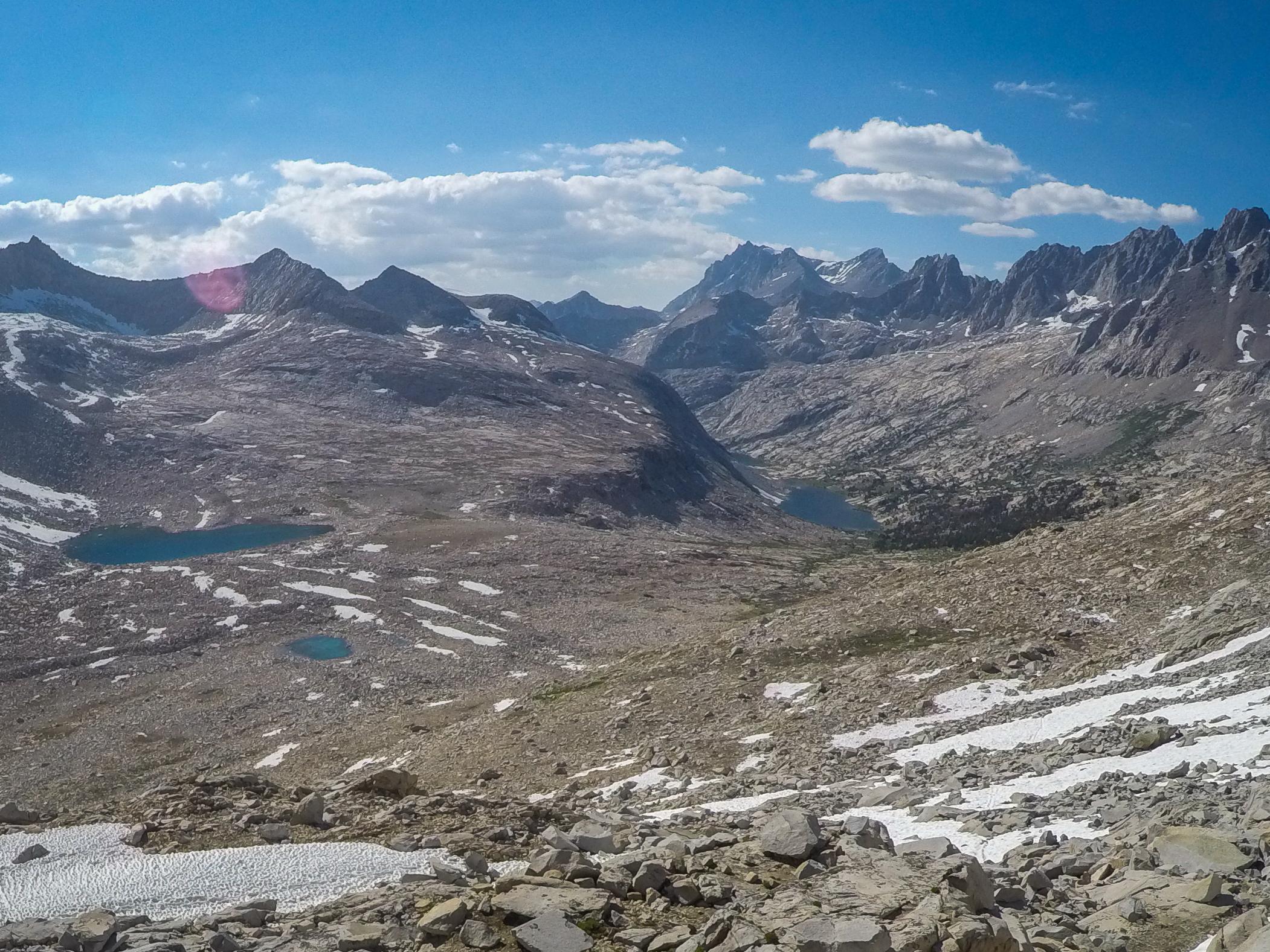June 2016 - Looking north toward Palisade Lakes.
