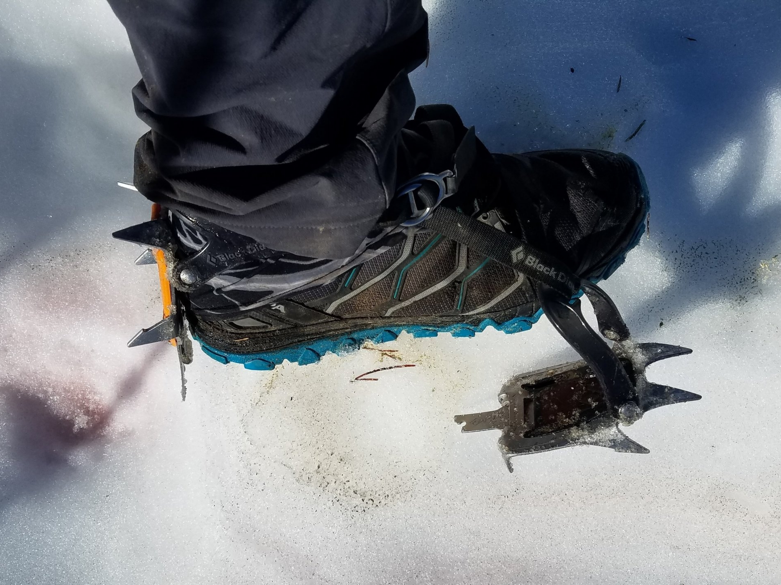 Trail-runners and crampons have an oil-and-watery kind of relationship...