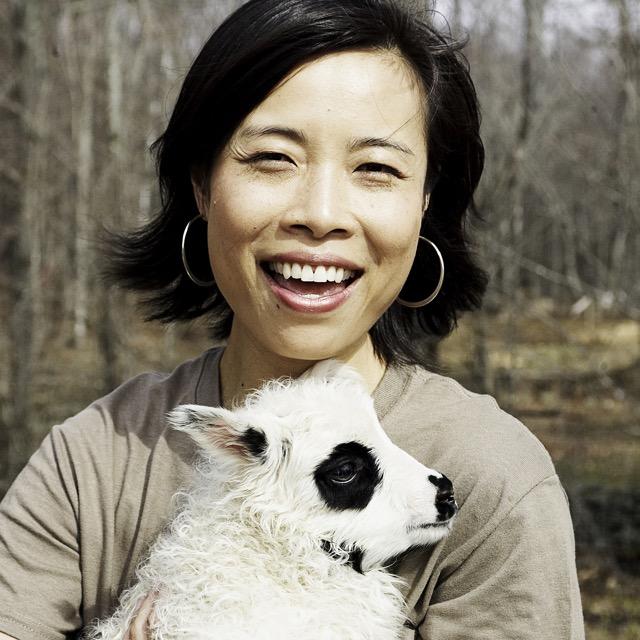 Co-Owner Min Ye with Icelandic lamb