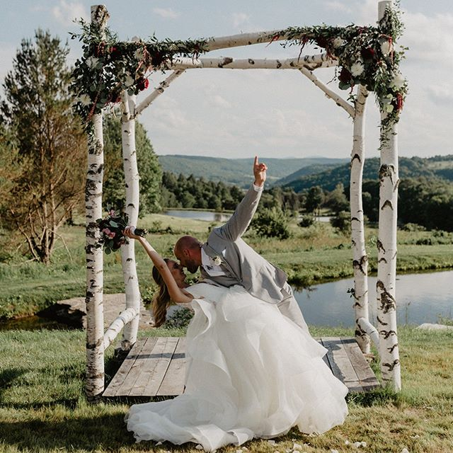 A perfect summer day!  Photo: Nicole Nero Studio Band: Tales of Joy Dress: A Love Story Bridal  Florals: Wyckoff Florist