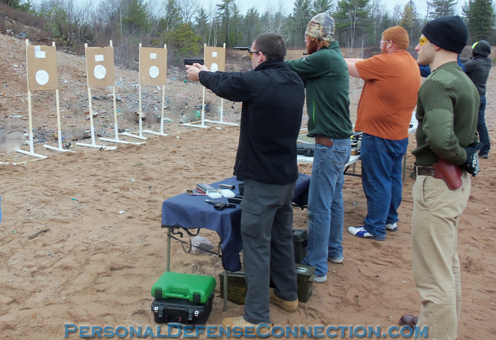 Michigan CPL class going through the paces. Armed Self Defense.