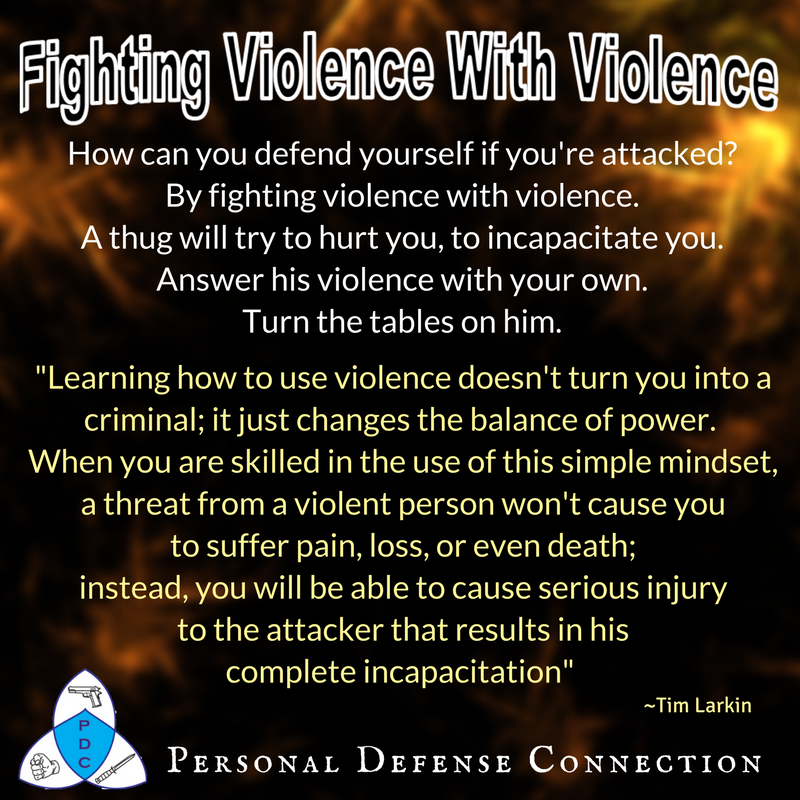 Fighting Violence with Violence Meme for Personal Defense Connection's What would you do in a violent situation post