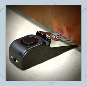Photo of a door wedge for Personal Defense Connection's No Stranger gets in your home
