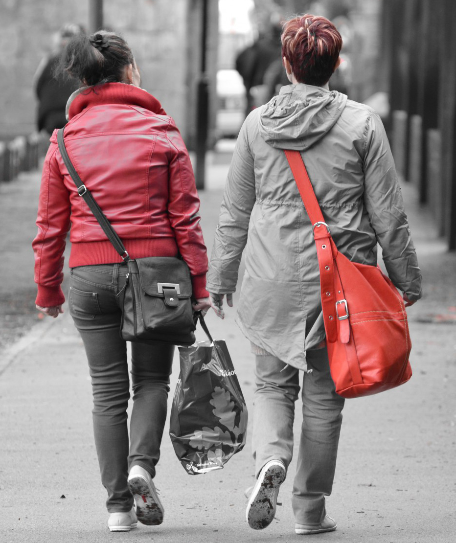 Photo of women walking for Personal Defense Connection's Safe while walking post