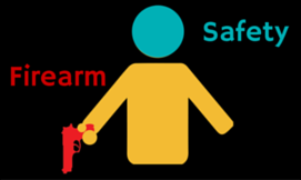 Gun Safety Picture for Personal Defense Connection's gun selfie post