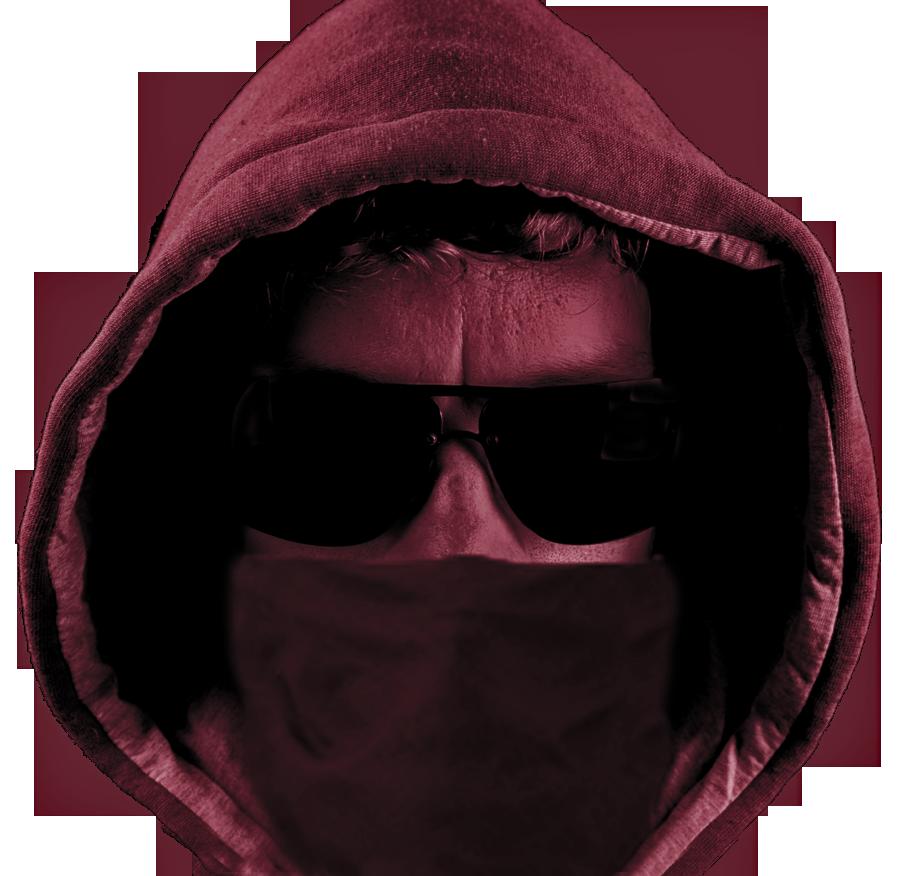 burgandy colored pic of a burglar
