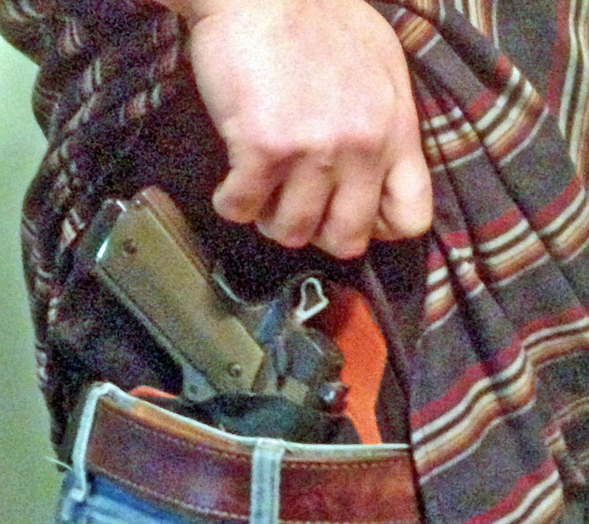 concealed carry picture - showing firearm