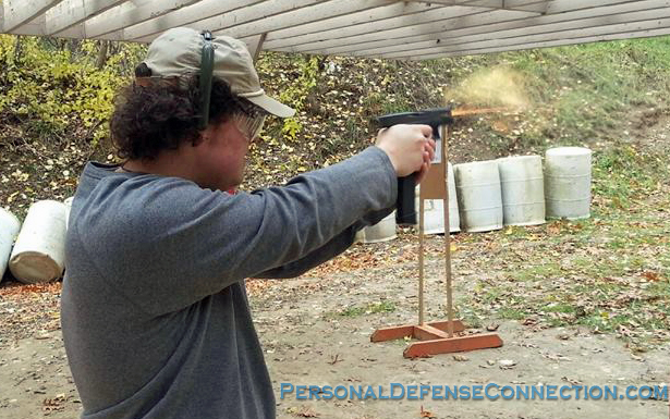 Practice at the gun range. Gotta keep those firearm skills polished!