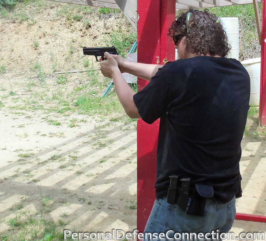 Practicing on the Gun Range. Firearms Class Instructor.