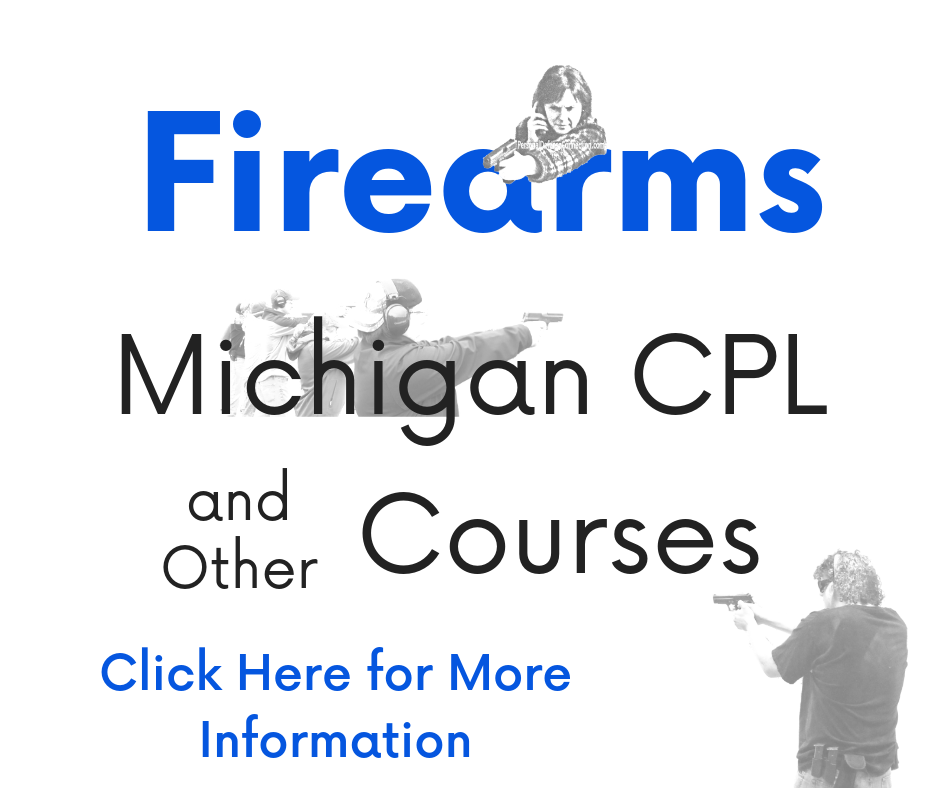 Firearm | Gun | Pistol Michigan CPL/CCW Courses Link Box to go to Farm Courses page.