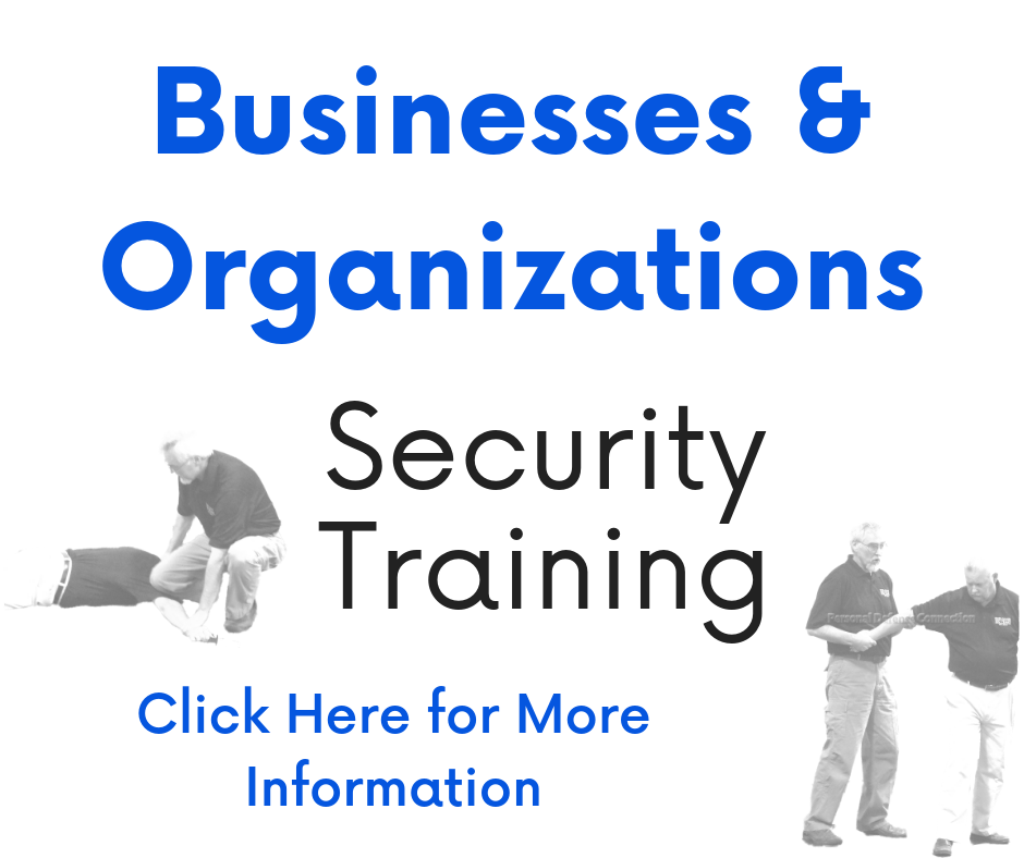 Business and Organizations Security Training Link Box to go to Self Defense Classes page.