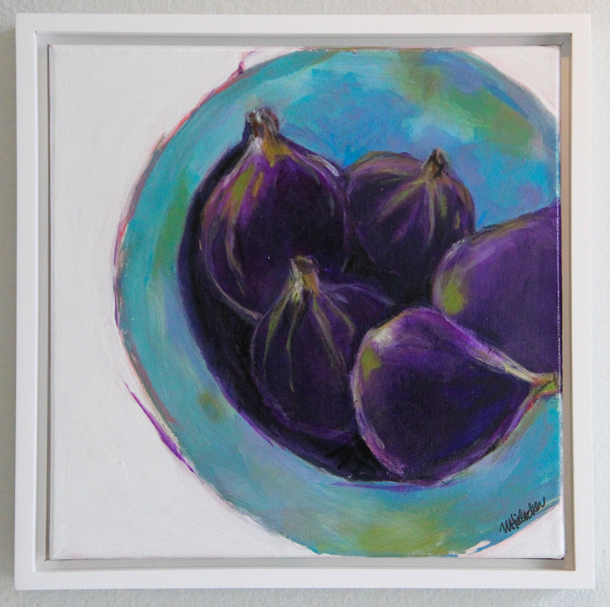 NANCY HIELSCHER, FIGS IN BLUE BOWL