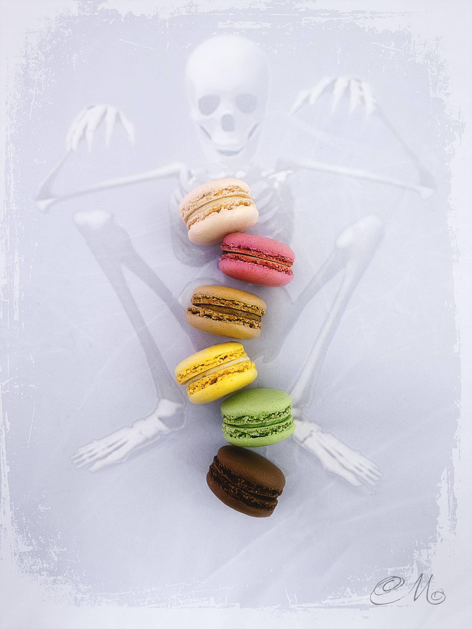 Melinda Isachsen JANIS Photography & Fine Art Skeleton & Macarons