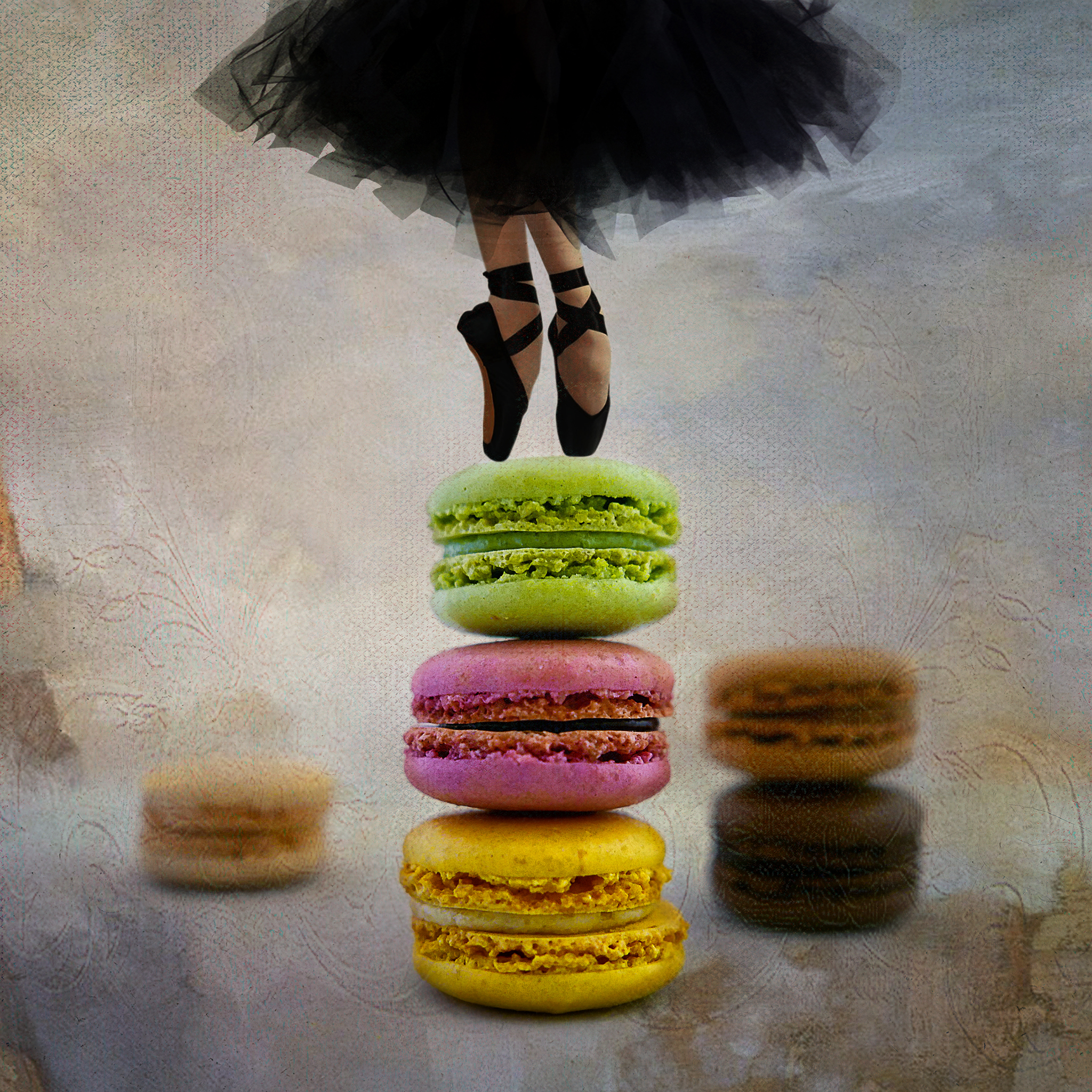 Melinda Isachsen JANIS Photography & Fine Art Ballerina Dancing on Macarons